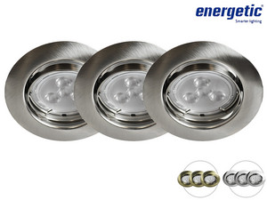 3x Energetic LED-Spot | GU10