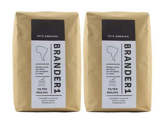 Korting Brander1 Brasil Gemalen Koffie | 2 kg