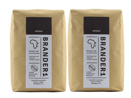 Korting Brander1 Ethiopia Koffiebonen | 2 kg