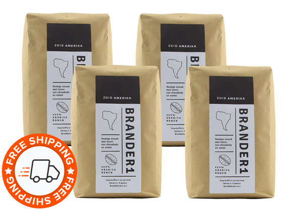 Korting Brander1 Brasil Koffiebonen | 4 kg