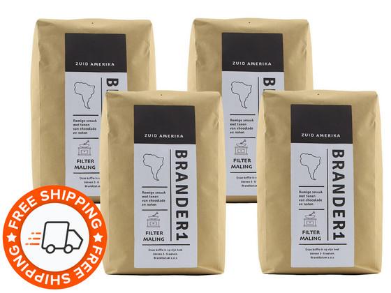 Korting Brander1 Brasil Gemalen Koffie | 4 kg