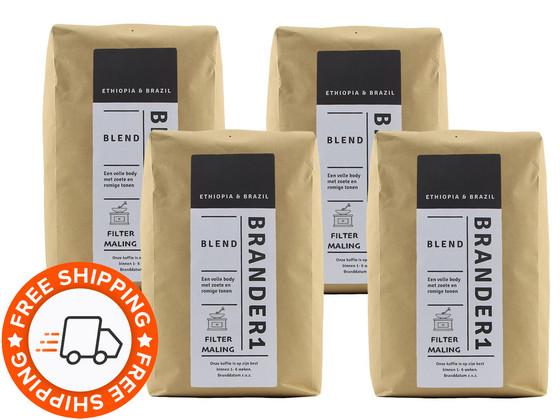 Korting Brander1 Blend Gemalen Koffie | 4 kg