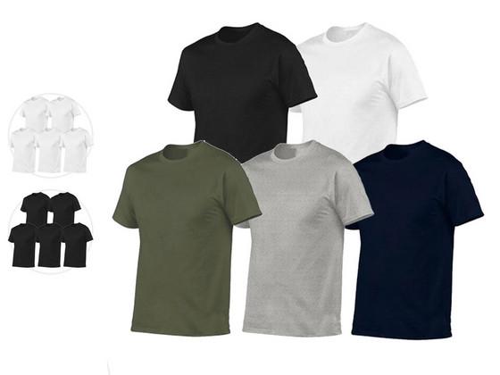 Korting 5x Pierre Calvini Basic T Shirt   Heren
