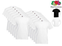12x Basic Shirt (Ronde of V-Hals)