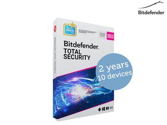 Bitdefender Total Security 2020 | 2 Jaar | 10 Apparaten