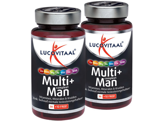 Korting Lucovitaal M plus Man | 2 x 40 Tabletten