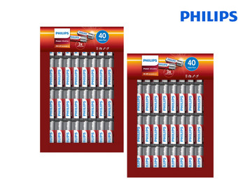 Philips Power Alkaline Batterijen | 40x AA + 40x AAA