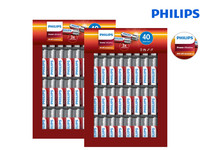 80x Philips Power Alkaline | AA o. AAA