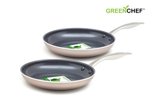 2x GreenChef Royal Bronze Bratpfannen