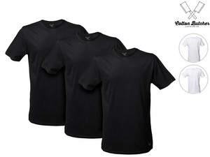 3x Cotton Butcher T-Shirt | extra lang
