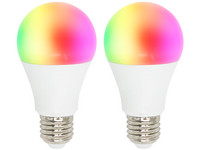 2x Woox RGB & WW Smart LED Lamp | E27