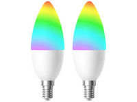 2x Woox E14 RGB & WW Smart LED Lamp