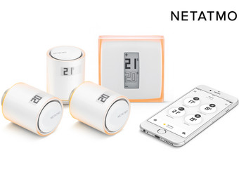 Netatmo intelligentes Thermostat + 3x intelligente Heizkörperthermostate