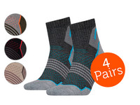 4x HEAD Quarter Wandersocken