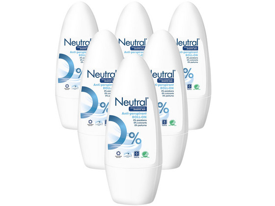 Korting 6x Neutral Deodorant Roller 50 ml