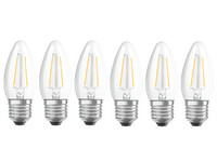 6x Osram Dimbare LED Lamp | E27