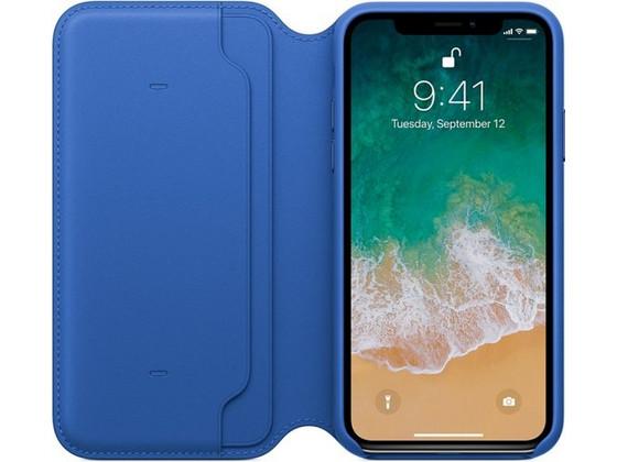 Korting Apple iPhone X Leren Folio Fliphoesje