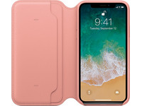 Apple iPhone X Leren Folio Fliphoesje