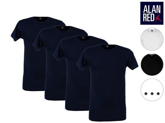 Korting 4x Alan Red Basic T Shirt