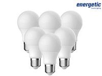 6x Energetic Dimbare LED Lampen (E27)