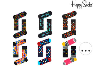 6x Happy Socks Socken  | Damen und Herren