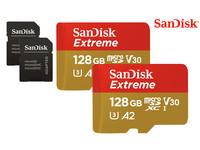 2x SanDisk Extreme microSDXC | 128 GB