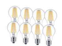 8x Philips LED-Lampe | 8 W | E27