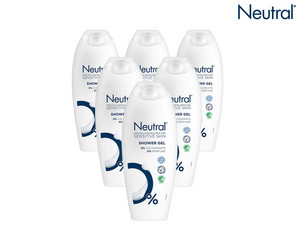 6x żel pod prysznic Neutral | 250 ml