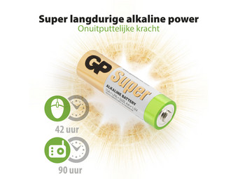 GP Alkaline Super Batterijen