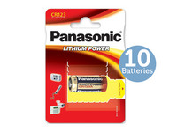 10x Panasonic CR123 Lithium-Batterie