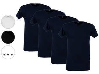 4x Alan Red Basic T-Shirt