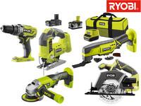 Ryobi 18V Combo Kit | 5 Geräte