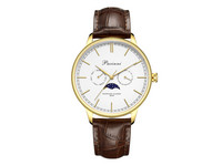 Pacinni Moonphase Horloge | Gold White