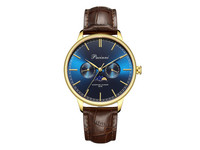 Pacinni Moonphase Horloge | Gold Blue
