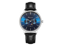 Pacinni Moonphase Horloge | Silver Blue