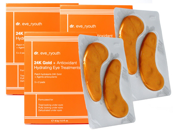 Korting 3x dr. Eve Ryouth 24K Gold Oogpads