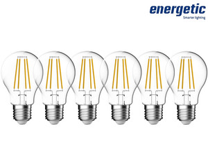 6x Energetic Filament Lamp (Dimbaar)