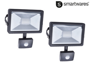 2x Smartwares 20 W LED Floodlight | Sensor