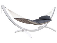 Fat Hammock Taupe & Olymp White