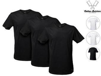3x Cotton Butcher Extra Lange T-Shirts   Heren