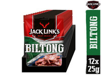 12 Jack Links Biltong Rindfleisch-Snacks | 25 g