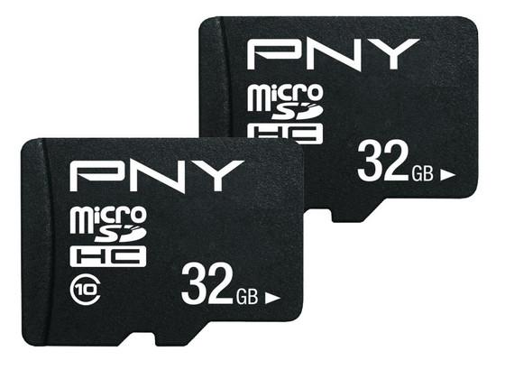 Korting 2x PNY Micro SD Card   32GB