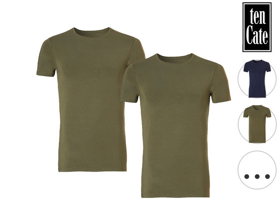 Korting 2x Ten Cate Bamboo T Shirt