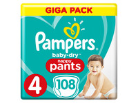 Pampers Baby-Dry Pants | Gr. 4 | 108 St.