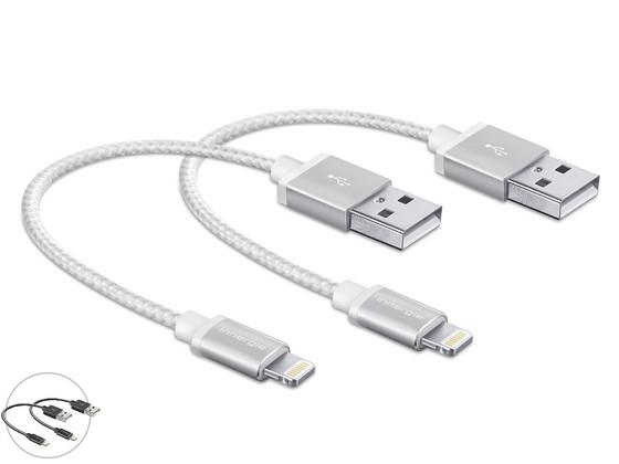 Korting 2x USB Lightning 15 cm MFi