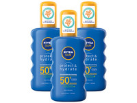 3x NIVEA Protect & Hydrate Sonnenspray LSF50+