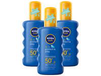 3x Kids Protect & Play Sonnenspray LSF 50+