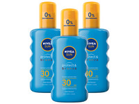 3x spray Nivea Sun Protect & Bronze | SPF30