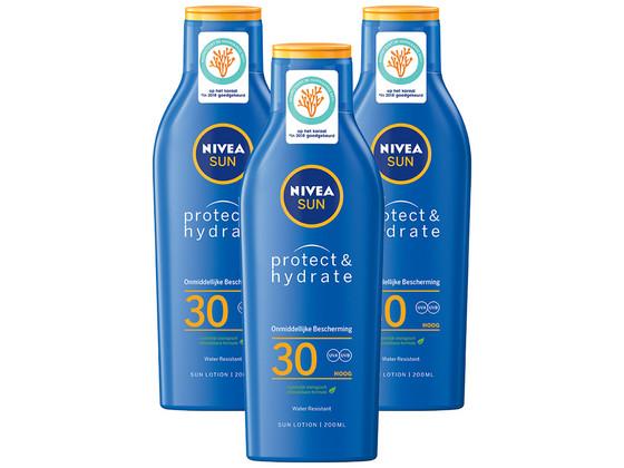 Korting 3x Nivea Hydrate Zonnemelk | SPF30