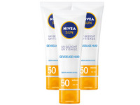 3x Nivea Face Sensitive Zonnecrème | SPF50